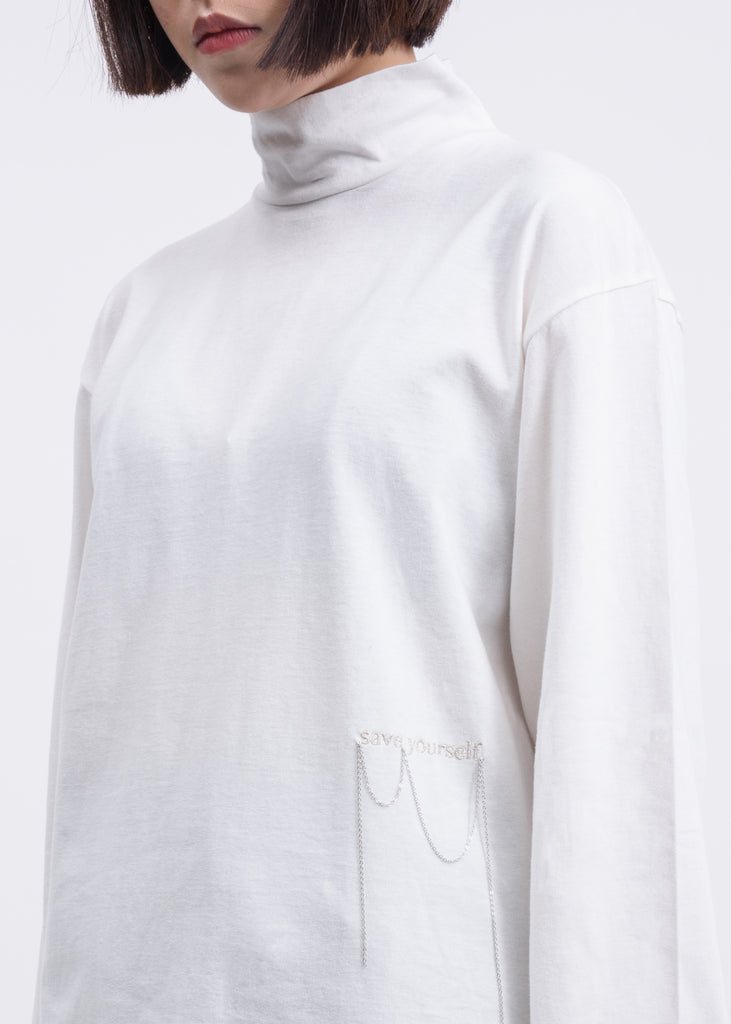 Hyein Seo, White Embroidered Long Sleeve, 017 Shop