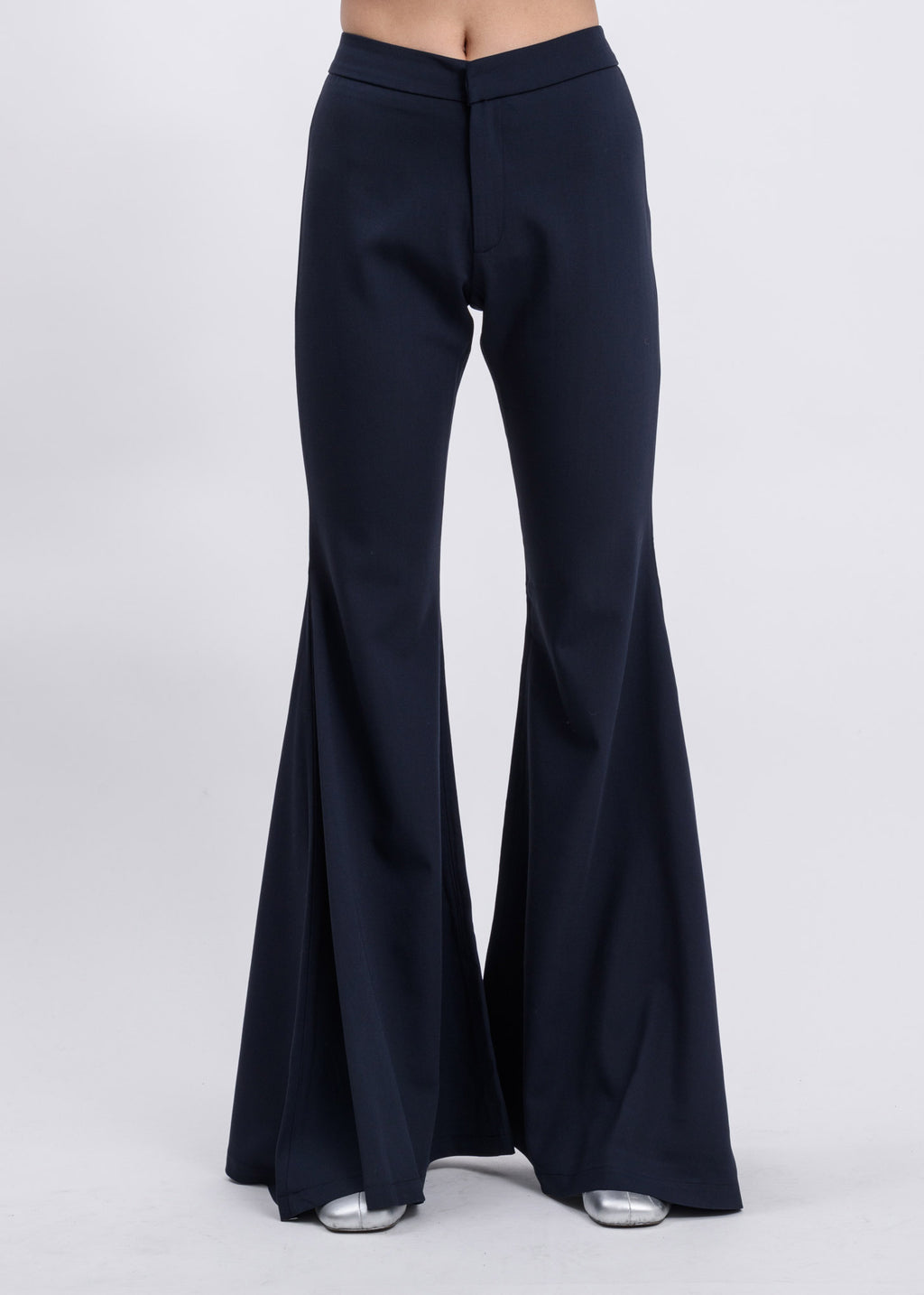 Blue Flare Trousers