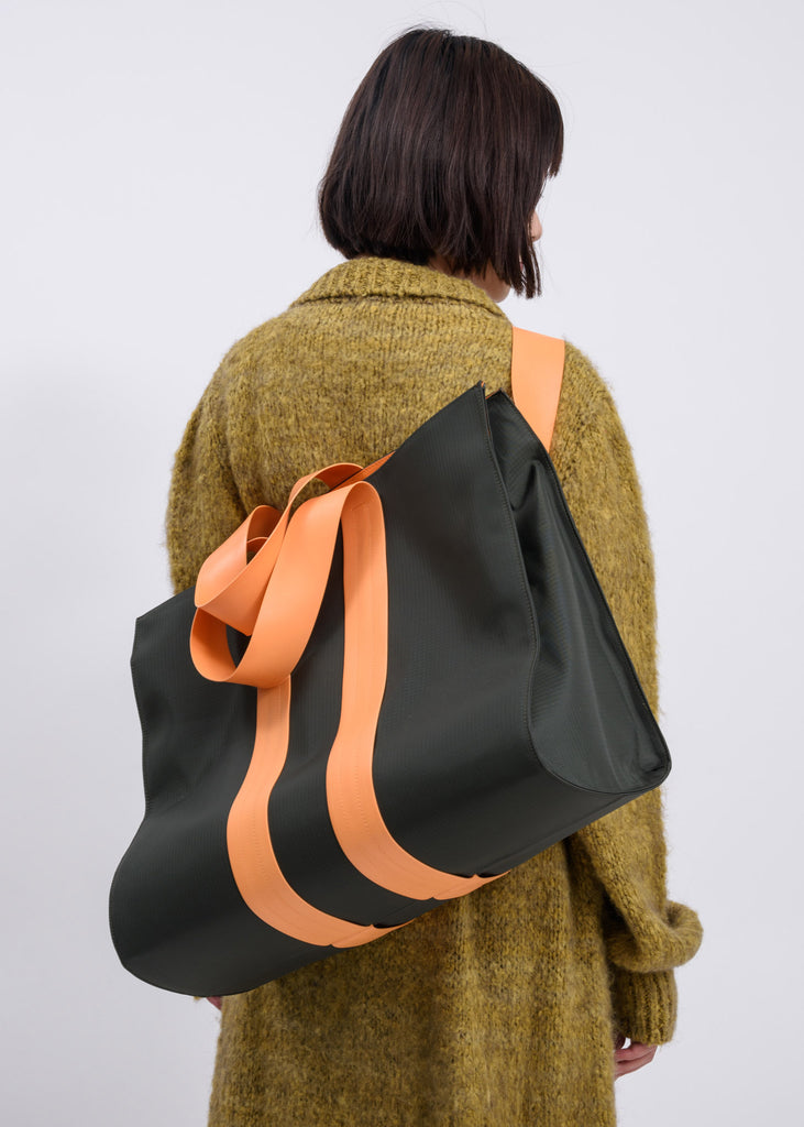 Military Green Parallelepipedo Bag