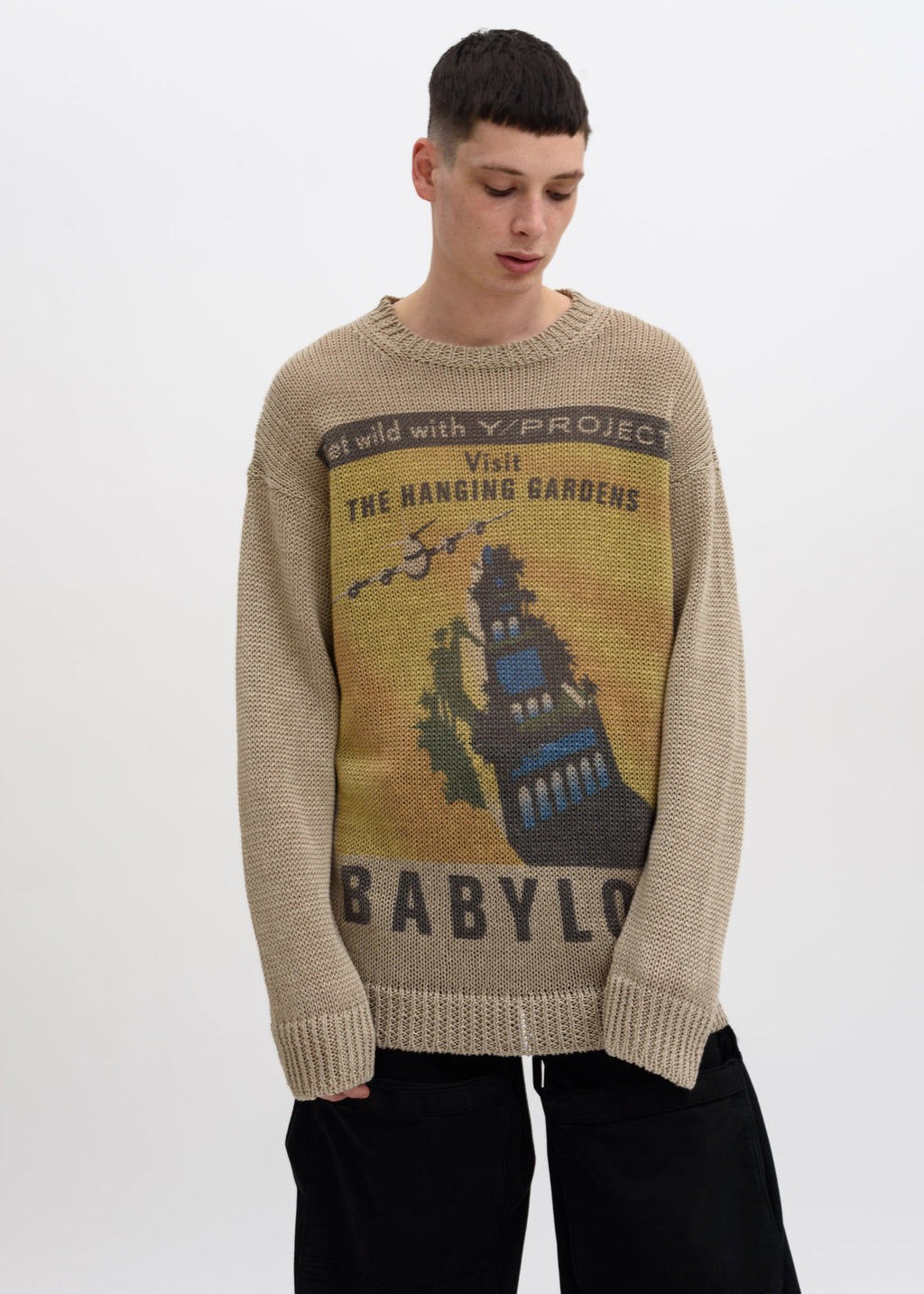 "Beige Post Card ""Babylon"" Sweater"