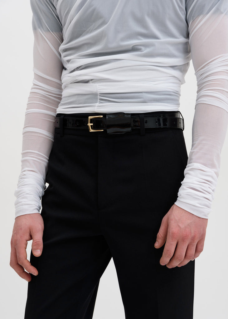 Black Covered Belt