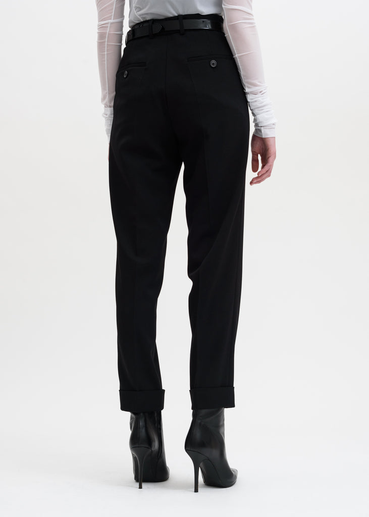 Black Y-Cuff Trousers