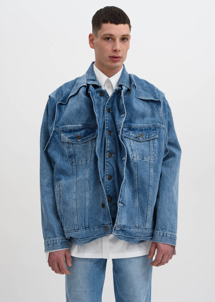 Ice Blue Pop Up Jacket