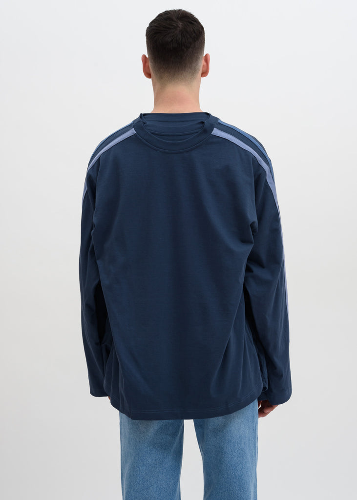 Navy Five Layer Sweatshirt