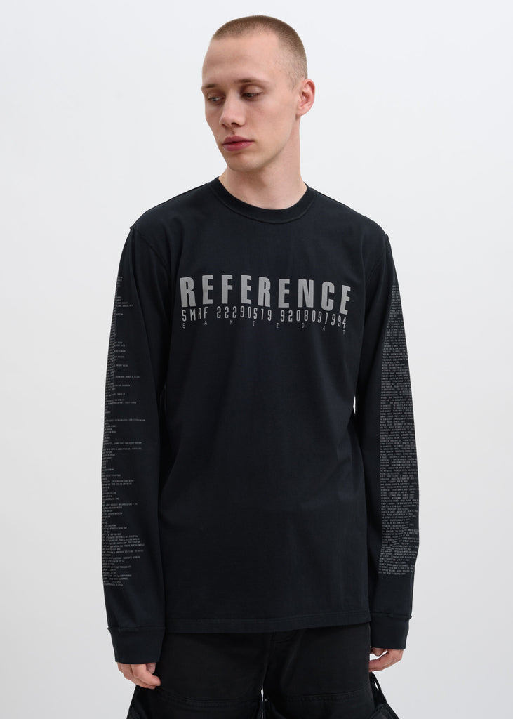 Black 5.0 Reflective Reference Long Sleeve