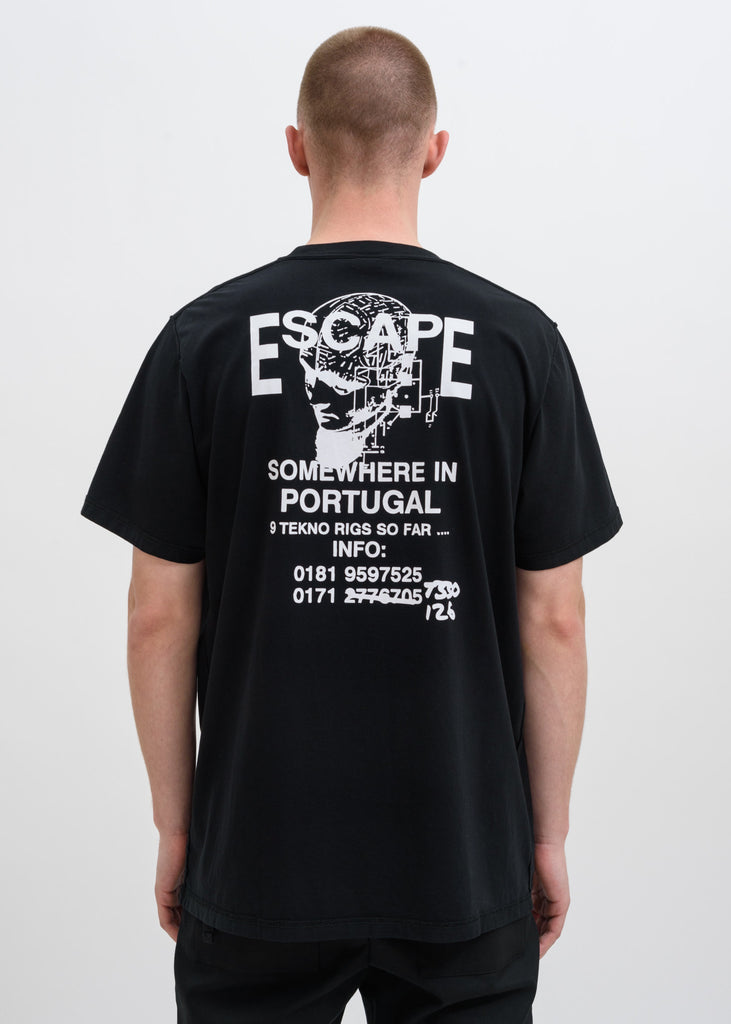 Black Free Party Flyer T-Shirt
