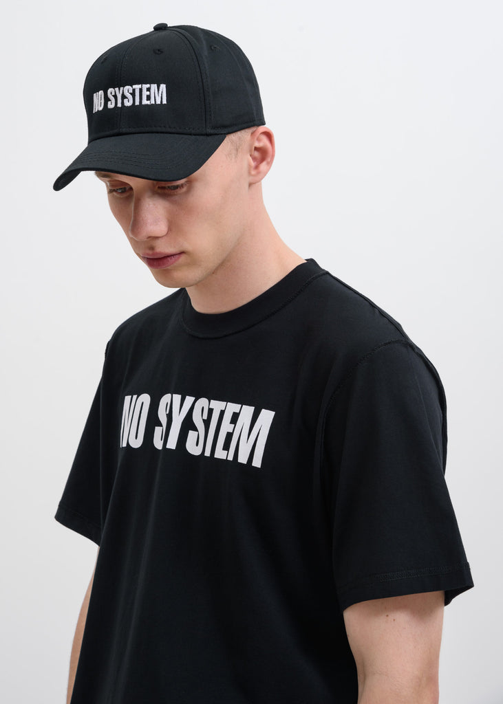 "Black ""NO SYSTEM"" Cap"