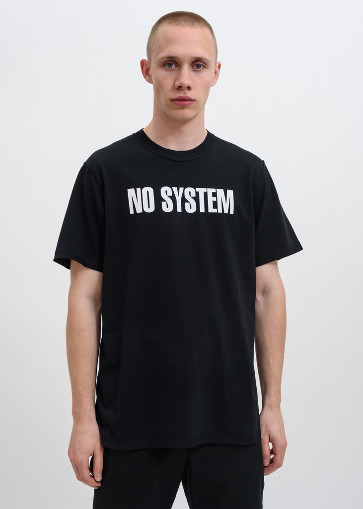 "Black ""NO SYSTEM"" T-Shirt"