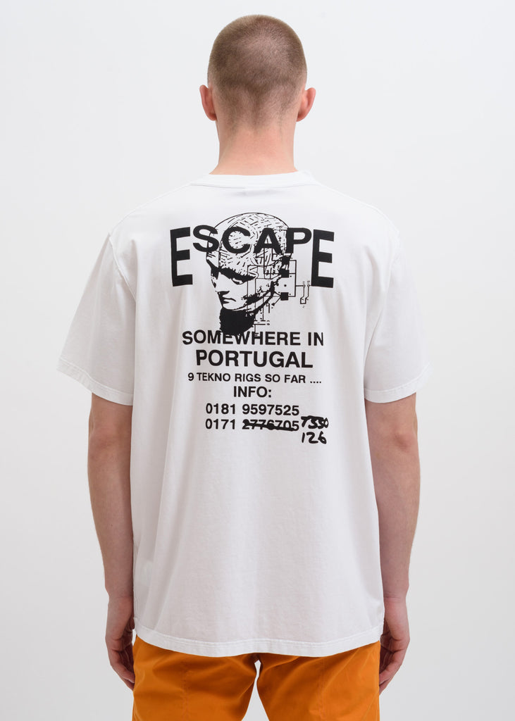 White Free Party Flyer T-Shirt