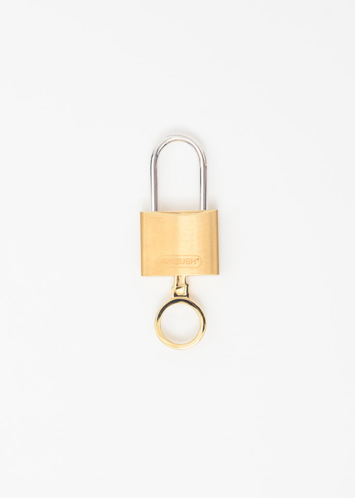 Gold Padlock Key Ring