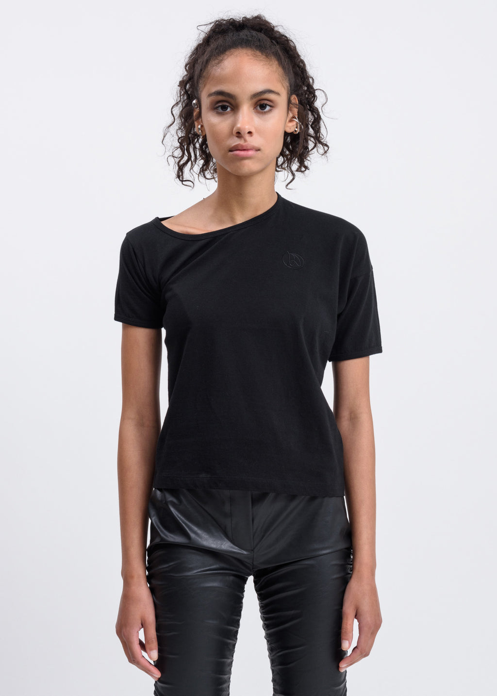Black Lopsided T-Shirt