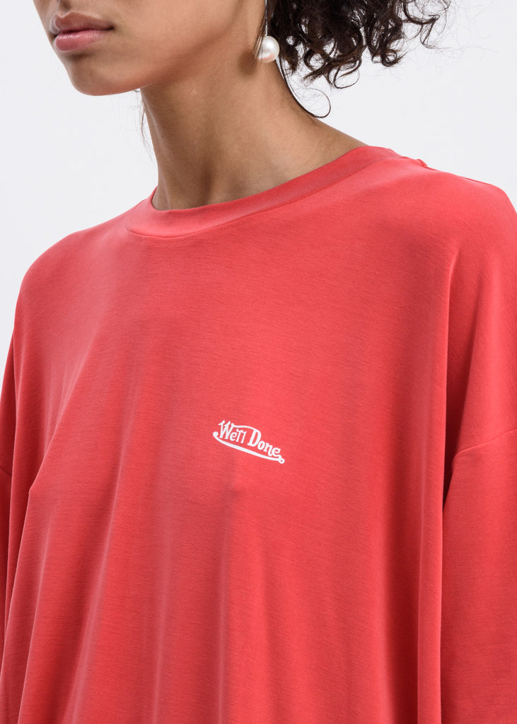 Red Oversized we11done T-Shirt