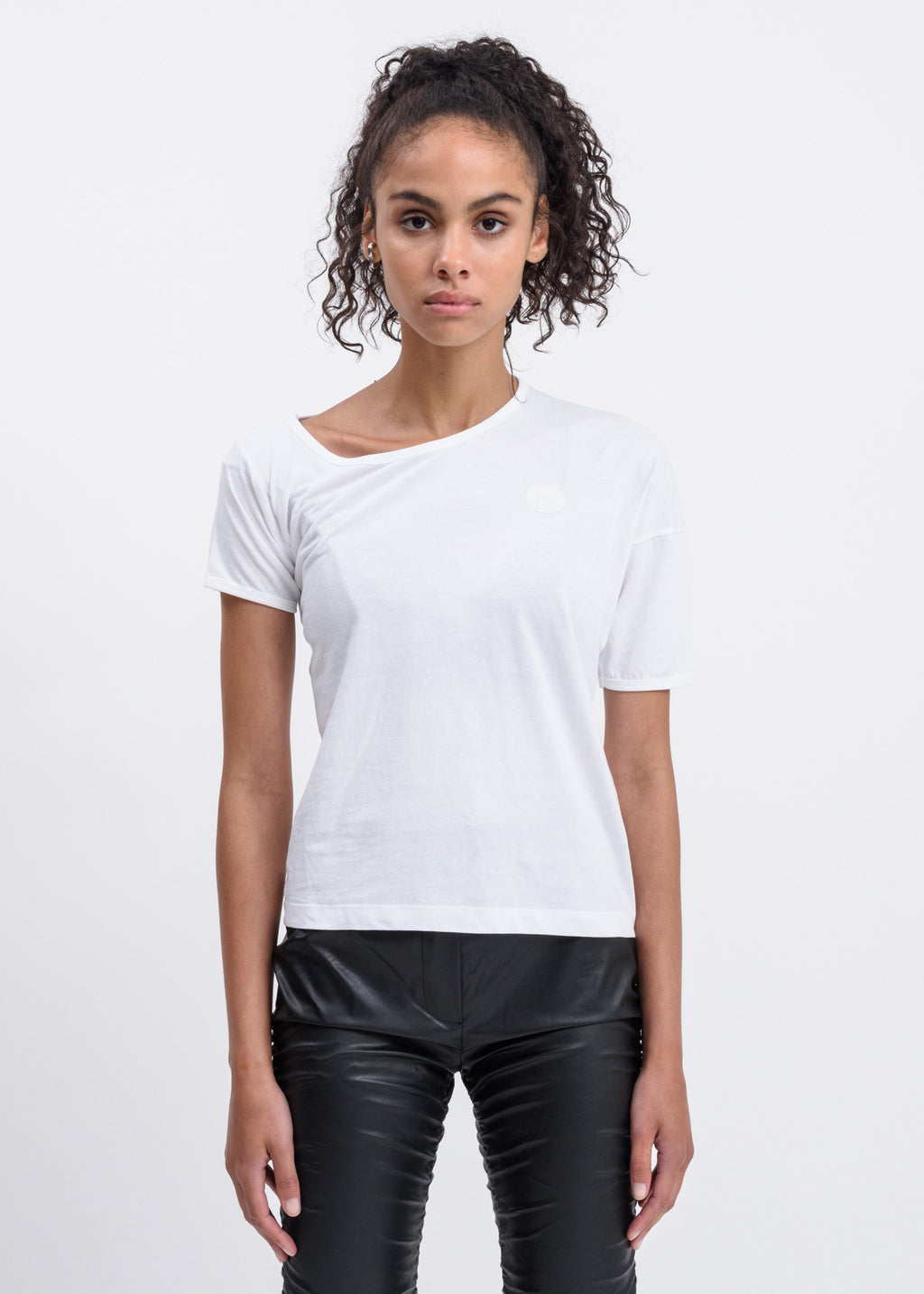 White Lopsided T-Shirt