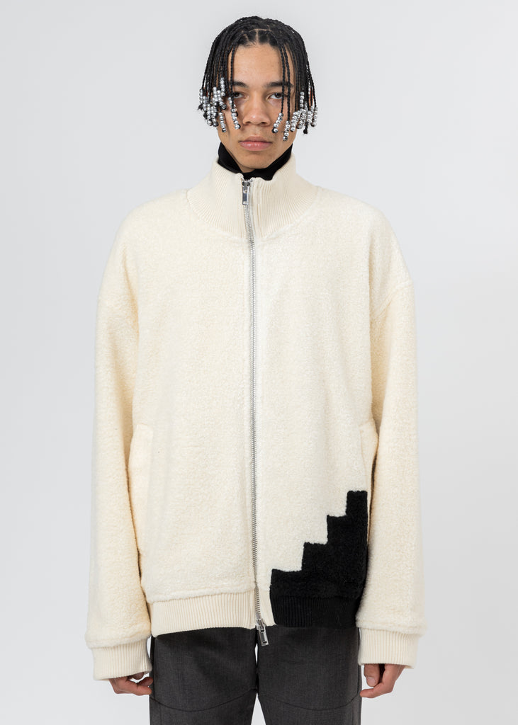 White Wool Fleece Jacket