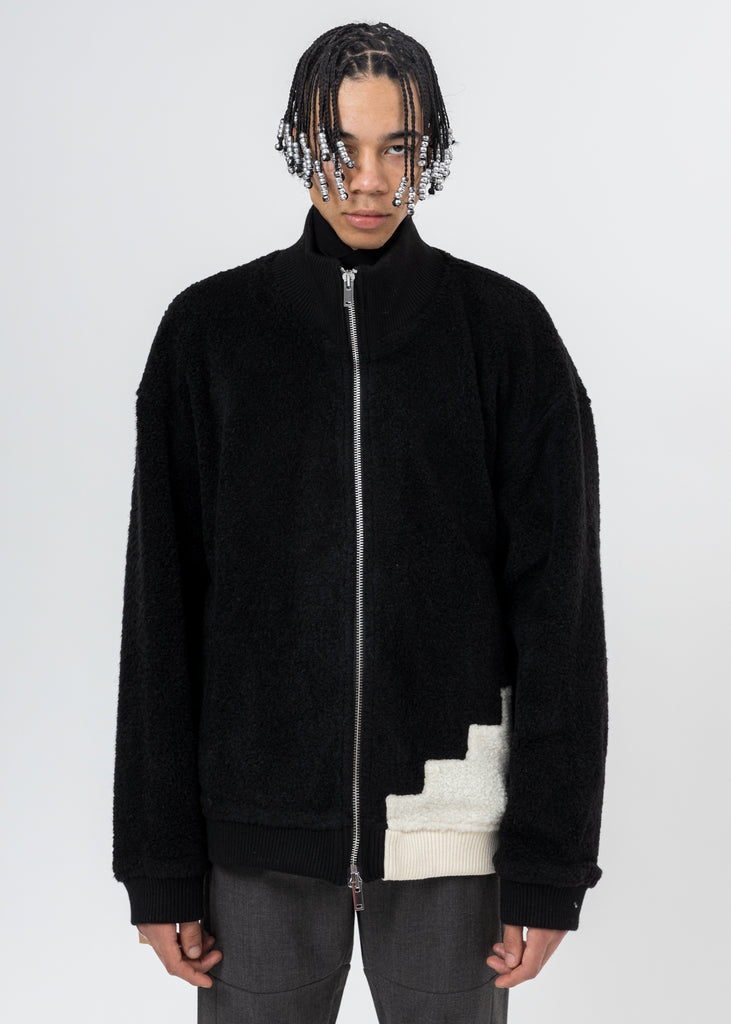 Black Wool Fleece Jacket