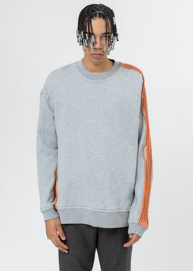 Grey Pinched Seams Sweater