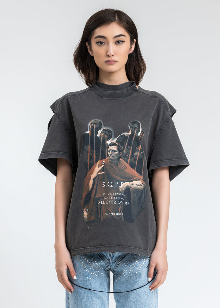 Black Convertible Caesar T-Shirt
