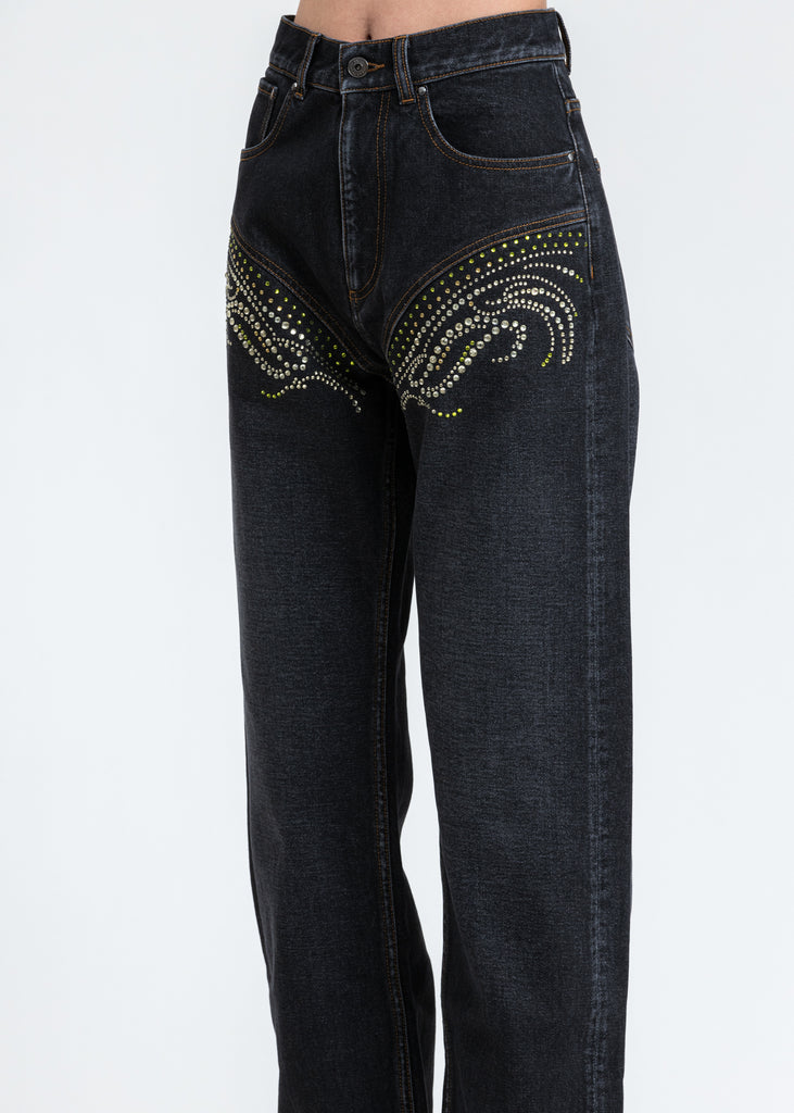 Black Crystal Jeans
