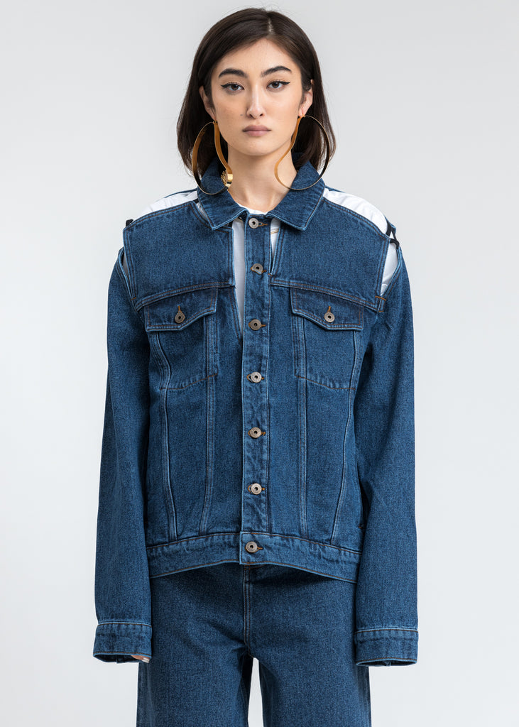Blue Denim Classic Peep Show Jacket