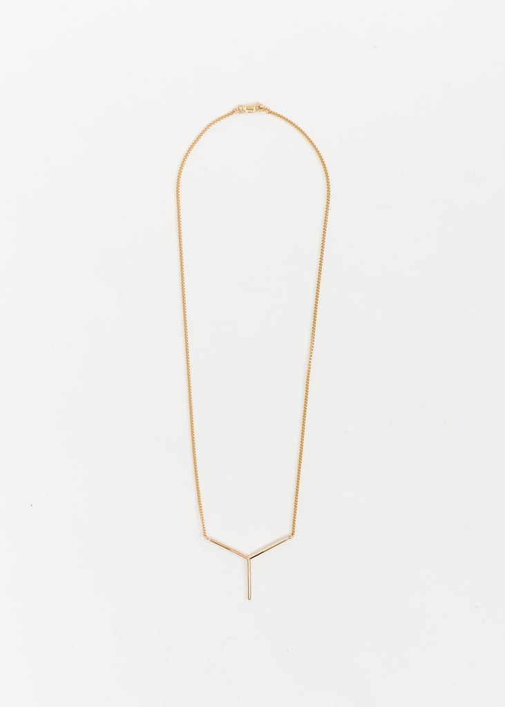 Gold Mini Y Necklace