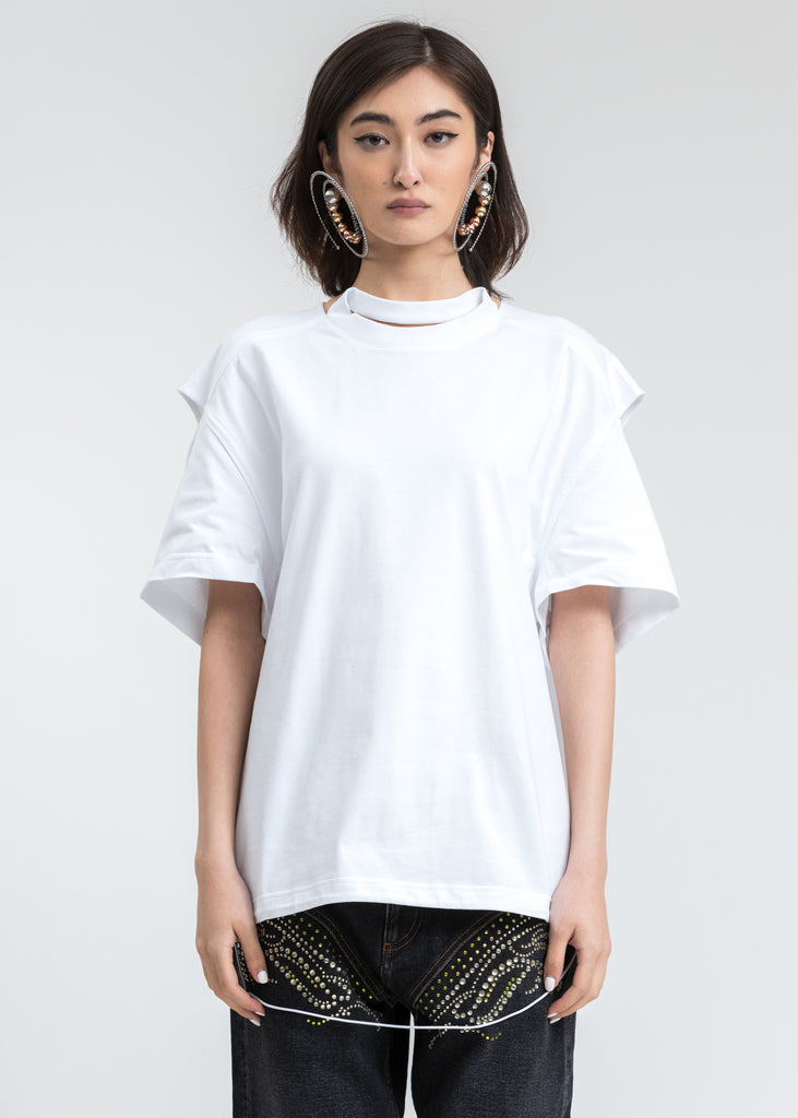 White Convertible T-Shirt