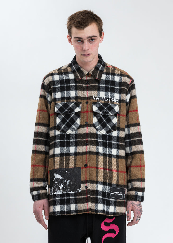 Beige WD English Check Shirt