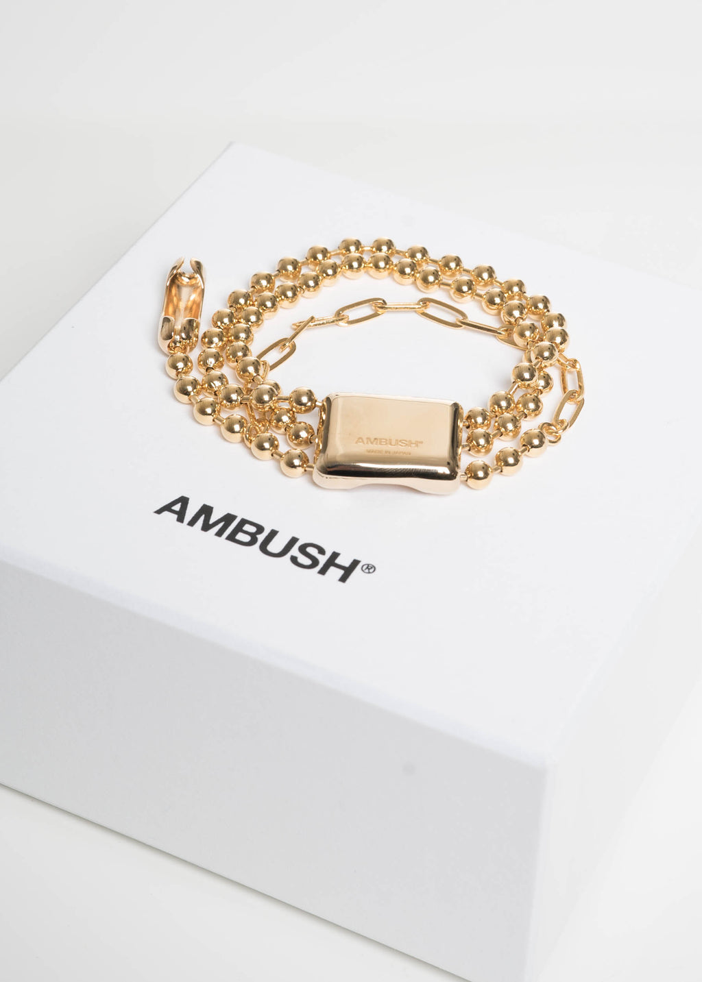 Gold Triple Ball Chain Bracelet