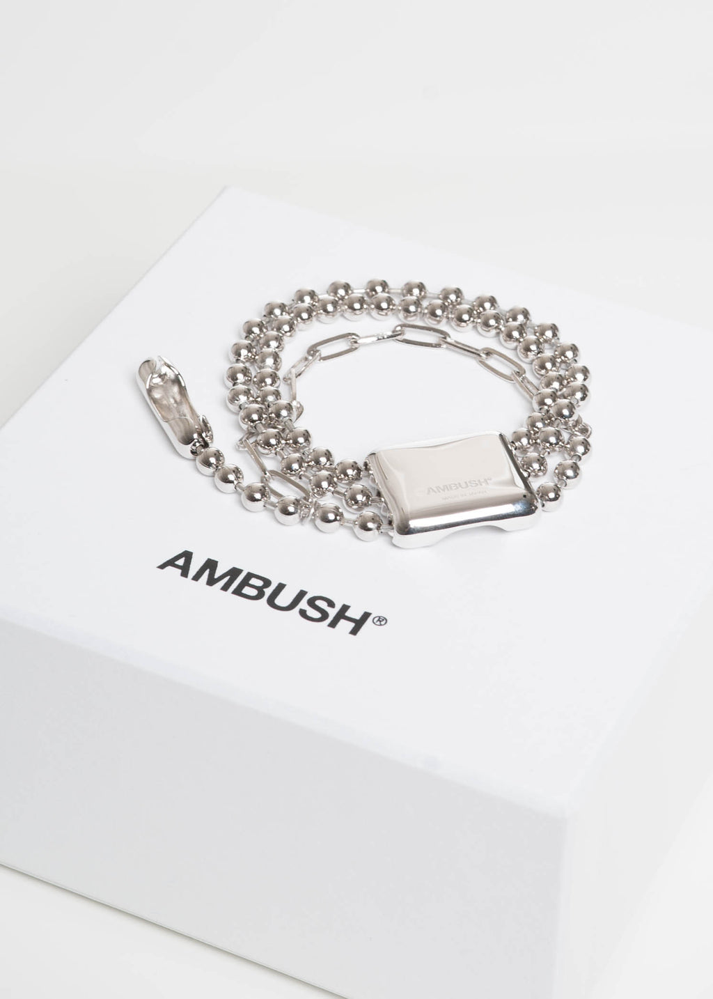 Silver Triple Ball Chain Bracelet