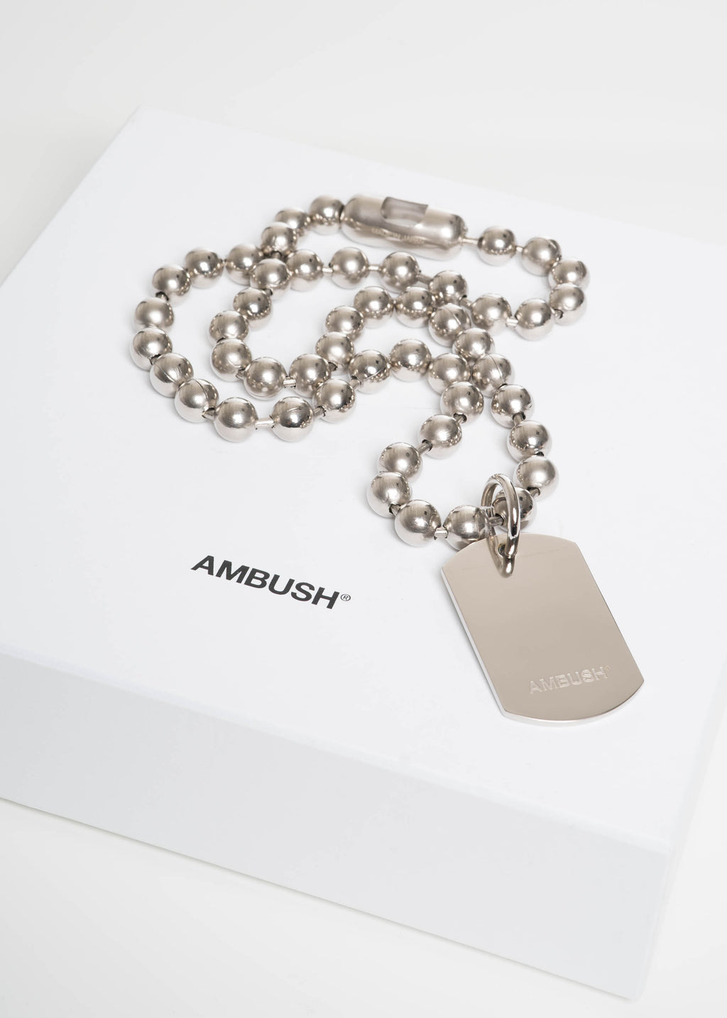 Ambush, Silver Classic Chain 4 Necklace, 017 Shop