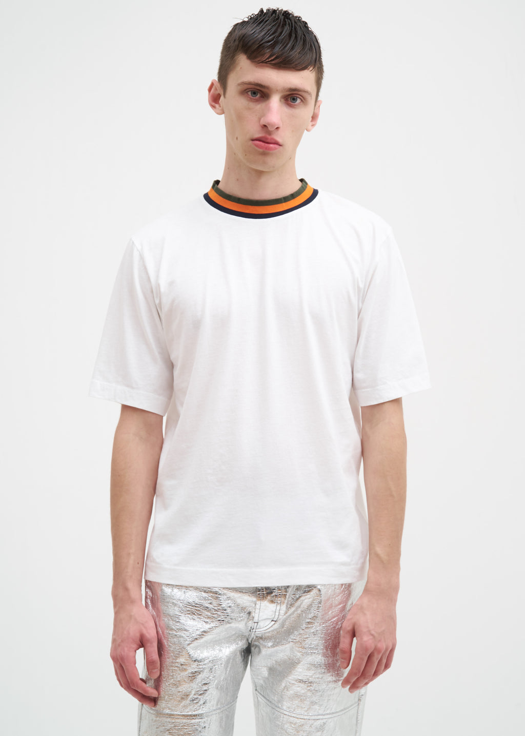 Etudes, White Signature Contrast T-Shirt, 017 Shop
