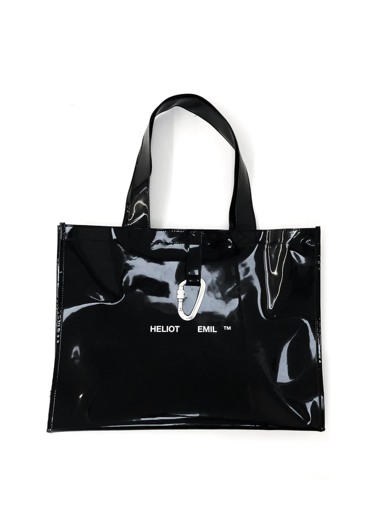 Black Rubber Tote Bag
