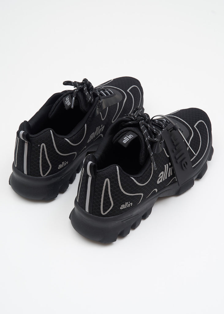 all in, Black Reflective Tennis Shoes, 017 Shop