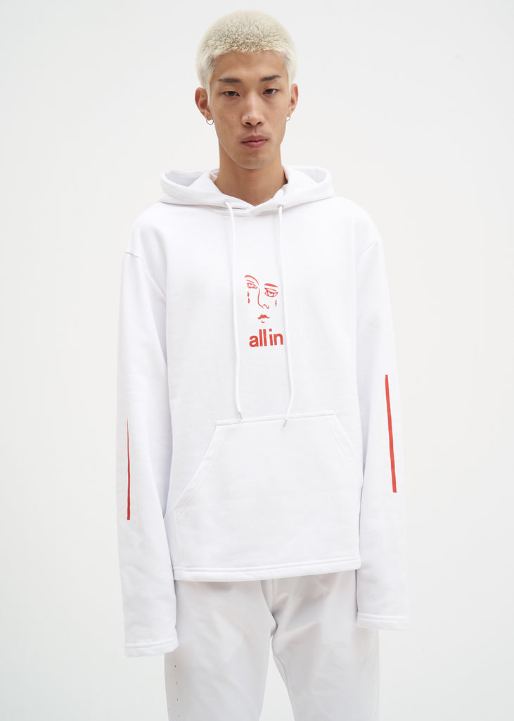 all in, White Jacknave Hoodie, 017 Shop