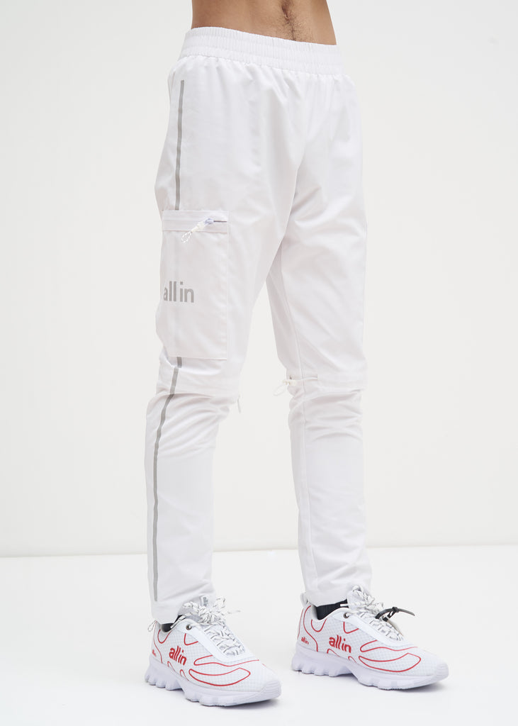 all in, White Reflective Tennis Pants, 017 Shop
