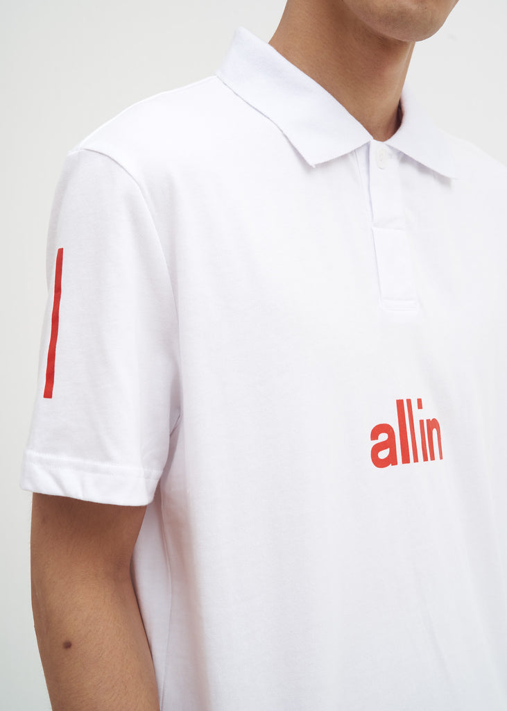 all in, White Tennis Polo, 017 Shop