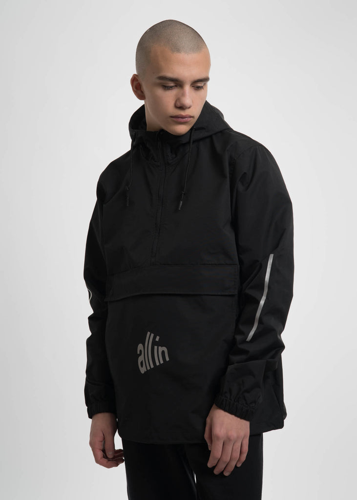 Black Waterproof Rain Jacket