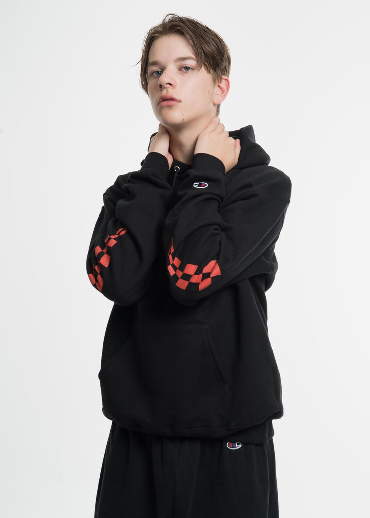 Black Champion Edition Wavy Logo Hoodie