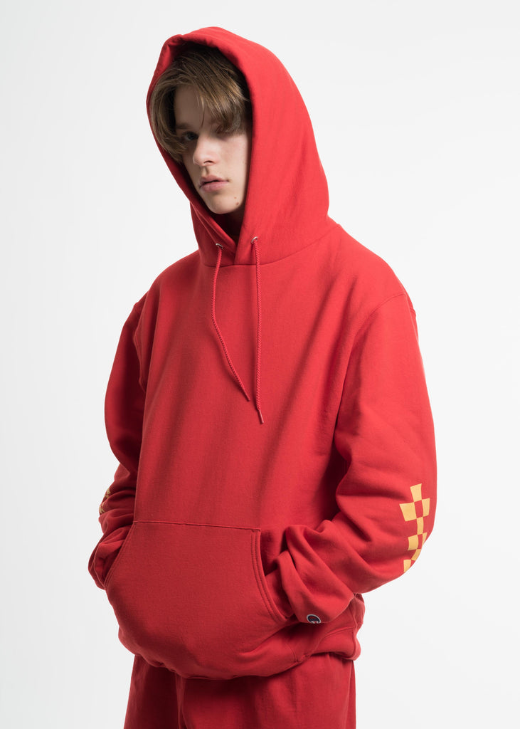 Red Champion Edition Wavy Logo Hoodie