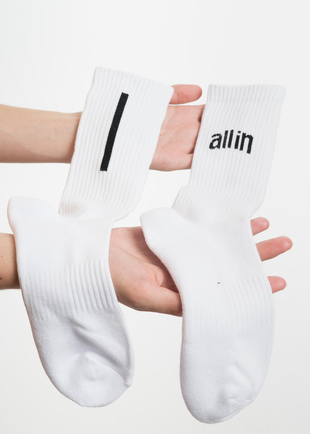 White Arc Logo Socks