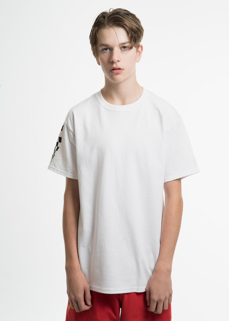White Champion Edition Wavy Logo T-Shirt