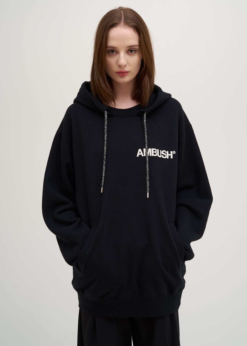 Ambush, Black Ambush Print Hoodie, 017 Shop