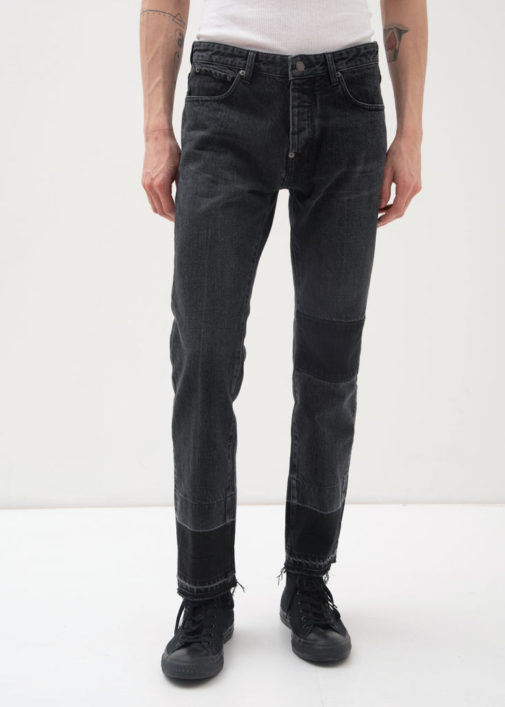 Black NOBO Patch Denim Jeans