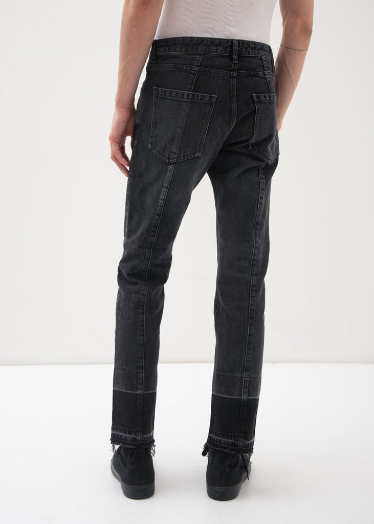 Ambush, Black NOBO Patch Denim Jeans, 017 Shop