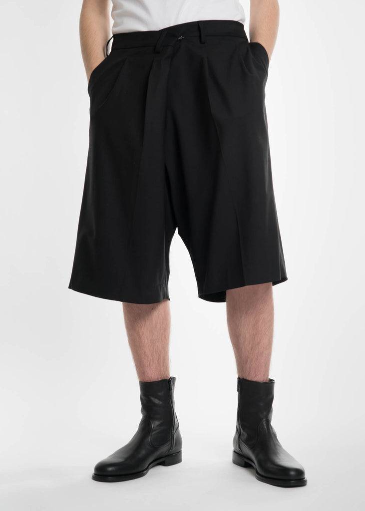 Black Overlap Dress Shorts Black Overlap Dress Shorts. Ambush