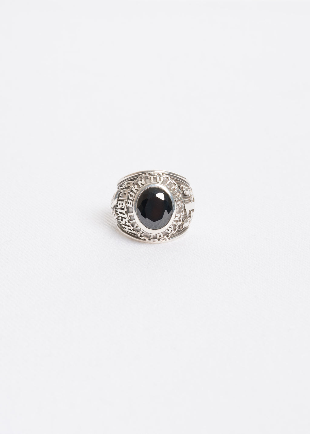 Black and Silver Class Ring