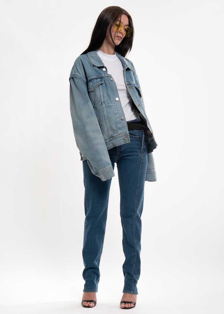 Ambush, Blue Padlock Denim Jacket, 017 Shop