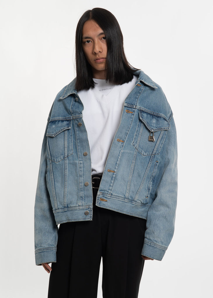 Blue Padlock Denim Jacket