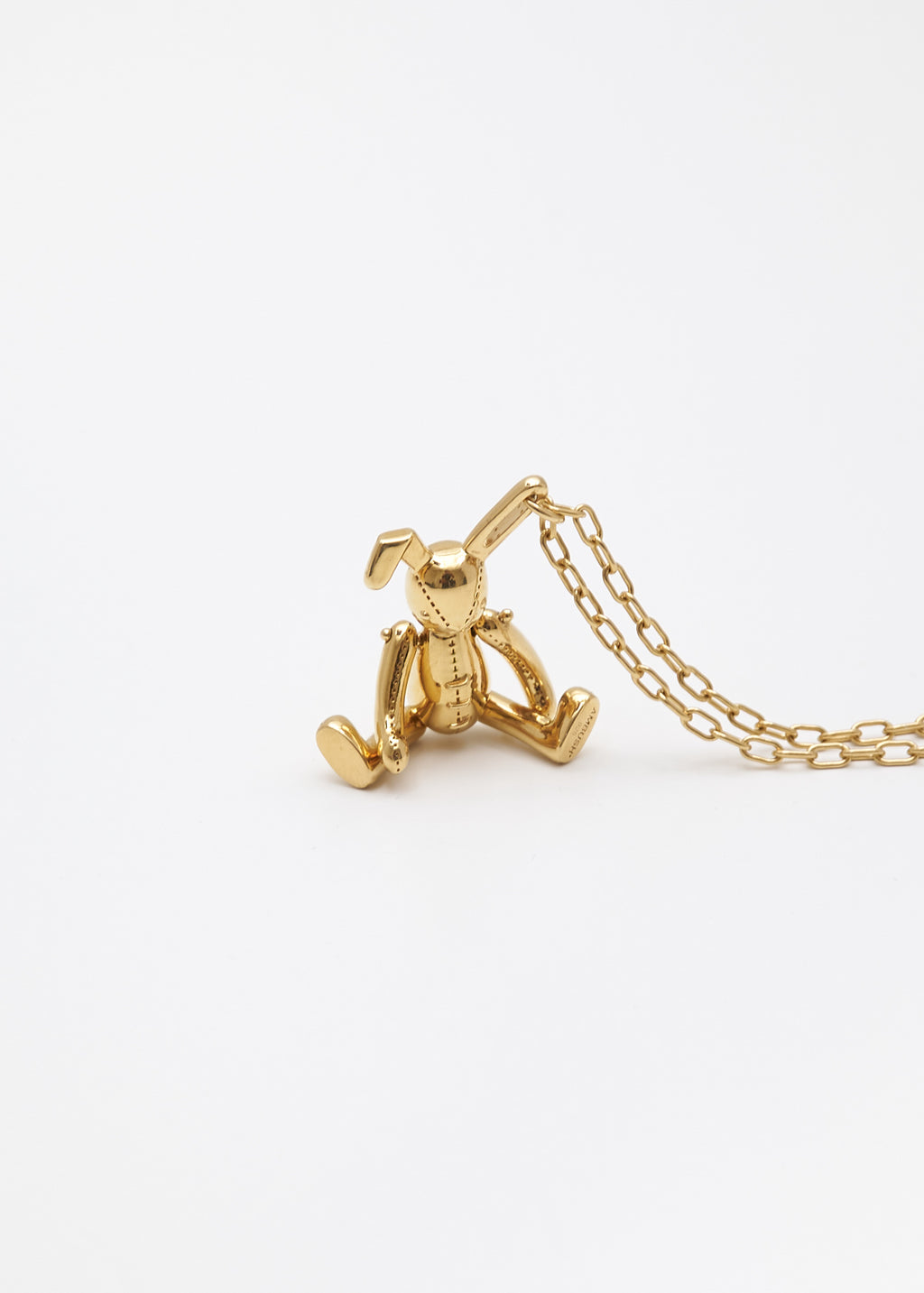 Gold Bunny Charm Necklace