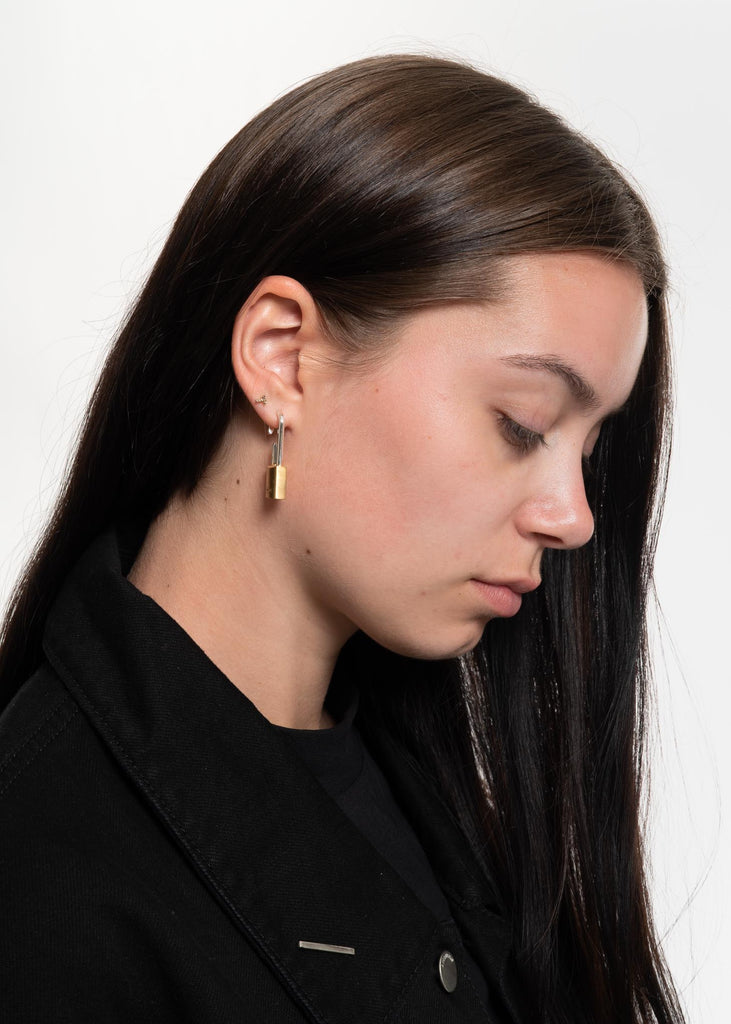 Ambush, Gold Hues Padlock Earring, 017 Shop