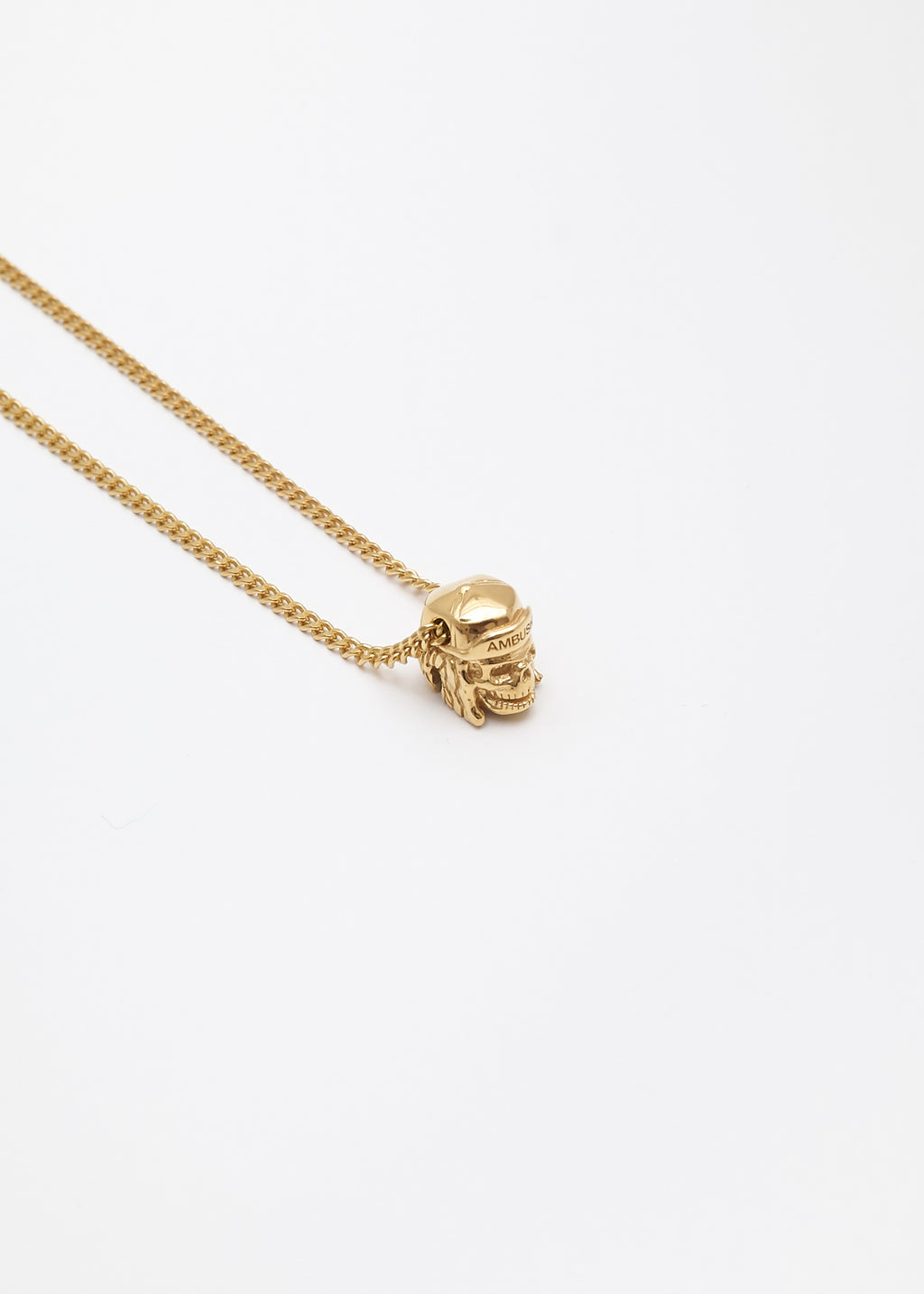 Gold Nobo Skull Charm Necklace